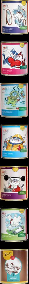 Anifit Katzenfutter 7 Sorten für Katzenfamilien